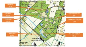 Vossenjacht 2016 kaart